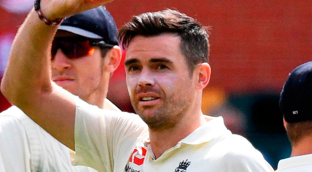 England paceman James Anderson claimed his first five-wicket haul in Australia. Photo: Getty Images