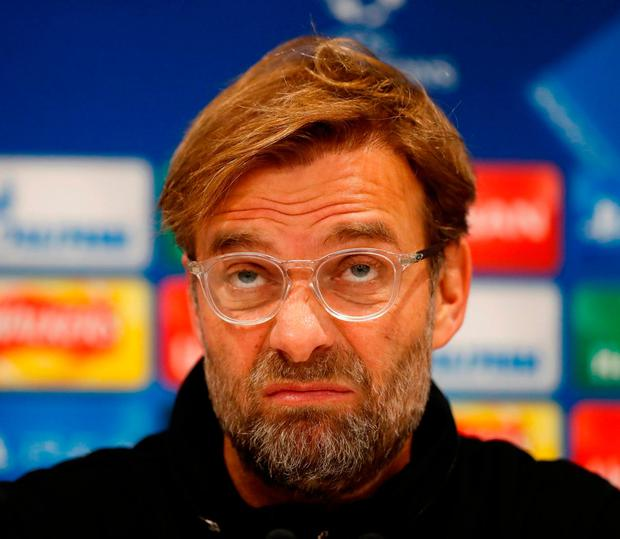 Jurgen Klopp expects his players to face a really big test tonight. Photo: Carl Recine/Reuters