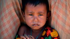 A Rohingya Muslim child in a refugee camp in Bangladesh. Photo: Getty Images