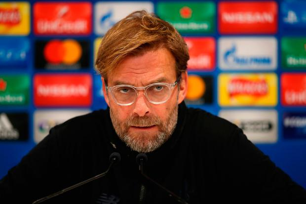 LIVERPOOL, ENGLAND - DECEMBER 05: Jurgen Klopp, Manager of Liverpool speaks to the media during a Liverpool FC press conference at Melwood Training Ground on December 5, 2017 in Liverpool, England. (Photo by Clive Brunskill/Getty Images)