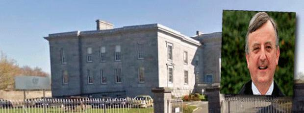 Judge Patrick Durcan (inset) issued the warning at Ennis District Court
