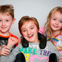 Waiting: Scoliosis sufferer Sophia McGuinness (11) with her brother and sister