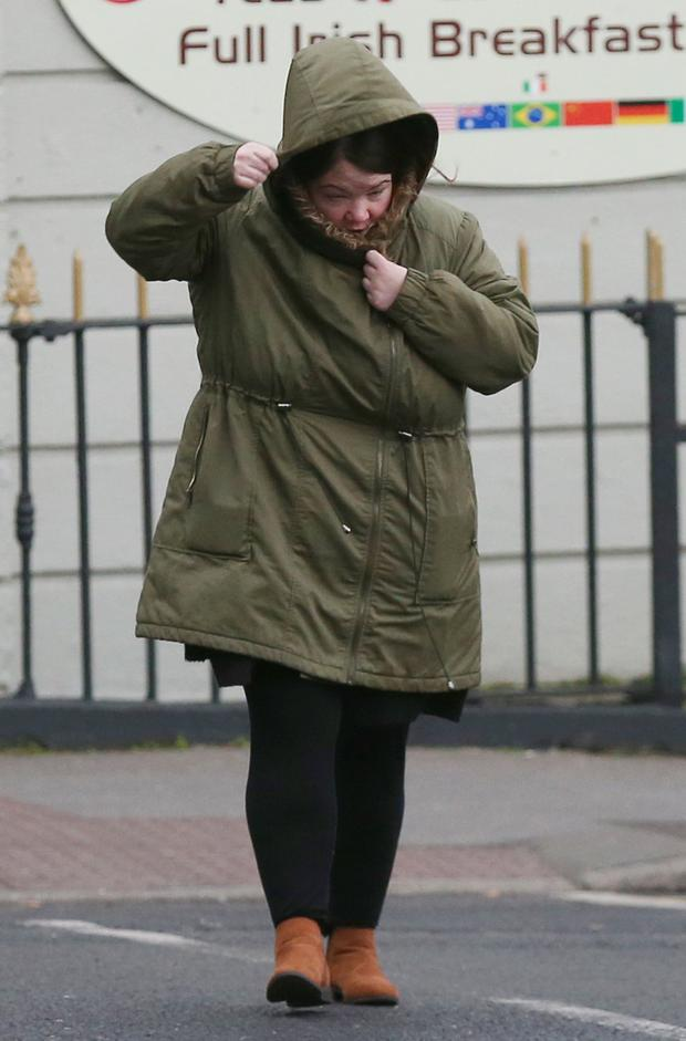 Jacqueline Walsh (33), with an address in Millbrook Lawns, Tallaght, arrives at the Dublin Circuit Criminal Court where she was given a three and a half year suspended sentence Pic Collins Courts.