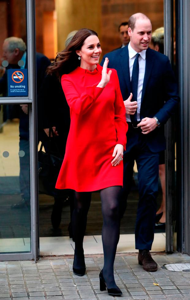 Prince William, Duke of Cambridge and Catherine, Duchess of Cambridge depart a 'Stepping Out' session at Media City on December 6, 2017 in Manchester, England