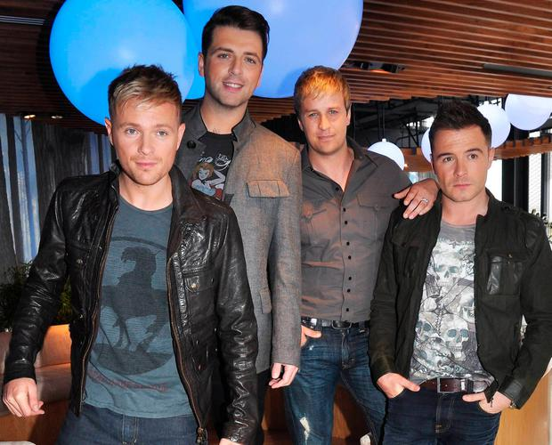 Westlife members Nicky Byrne, Mark Feehily, Kian Egan & Shane Filan in 2010