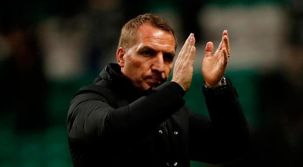 Soccer Football - Champions League - Celtic vs Anderlecht - Celtic Park, Glasgow, Britain - December 5, 2017 Celtic manager Brendan Rodgers after the match REUTERS/Russell Cheyne