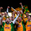 26 November 2017; Corofin captain Ciaran McGrath lifts the cup following the AIB Connacht GAA Football Senior Club Championship Final match between Corofin and Castlebar Mitchels at Tuam Stadium in Tuam, Galway. Photo by Ramsey Cardy/Sportsfile