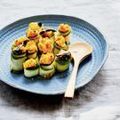 Courgette 'cannelloni' with a pumpkin and sage filling