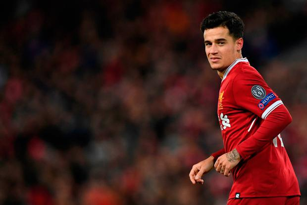 Liverpool midfielder Philippe Coutinho. Photo: Getty