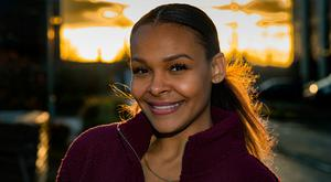 Centre stage again: Samantha Mumba is back in Ireland to play the Evil Stepmother in Cinderella the panto. Photo: Douglas O'Connor.