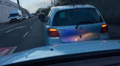 A person was found hidden in the boot of a car in Limerick
