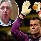 Shay Given and (inset) John Delaney