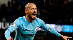 David Silva will be hoping to have a big influence of tomorrow's match. Photo: Martin Rickett/PA Wire