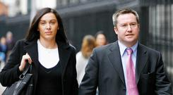 Michael Lynn, the former solicitor and property developer, with his wife Bríd. Photo: Courtpix