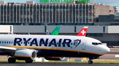 In Dublin, the Iseq rose sharply, up 1.22pc to 7,079.85, and Bank of Ireland and Ryanair were among the main gainers (stock photo)