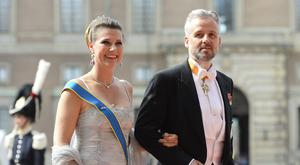 Princess Martha Louise and Ari Behn arrive for the wedding of Sweden's Crown Prince Carl Philip and Sofia Hellqvist at Stockholm Palace on June 13, 2015. AFP PHOTO / JONATHAN NACKSTRAND (Photo credit should read JONATHAN NACKSTRAND/AFP/Getty Images)