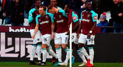 West Ham United's Marko Arnautovic celebrates
