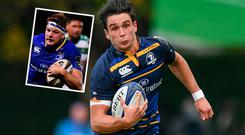 Joey Carbery and (inset) Jordi Murphy