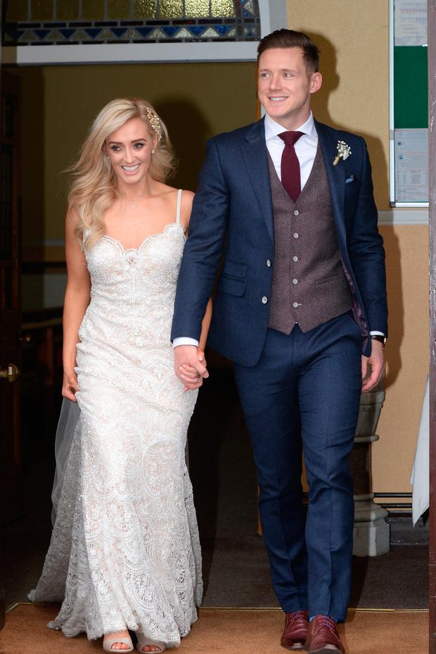 09/12/17. The Bride and Groom GAA star Paul Flynn and Fiona Hudson in Co.Cavan. Pic: Justin Farrelly.