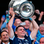 Dublin captain Stephen Cluxton lifts the Sam Maguire Cup for the third time in a row after this year's final against Mayo at Croke Park. Photo: Seb Daly/Sportsfile