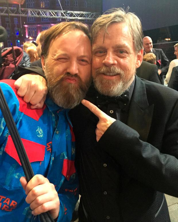 Craig pictured with actor Mark Hamill at 'The Force Awakens' premiere in 2015