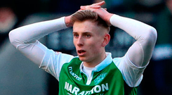 So near: Hibernians' Oli Shaw. Photo: PA