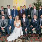 Dublin heroes Paul Flynn and Fiona Hudson, who wed in Co Cavan at the weekend, pictured with team members past and present