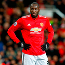 Manchester United's Romelu Lukaku shows his dejection. Photo: PA