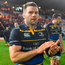 Fergus McFadden of Leinster acknowledges Leinster supporters after match between Exeter Chiefs and Leinster at Sandy Park in Exeter, England. Photo: Sportsfile