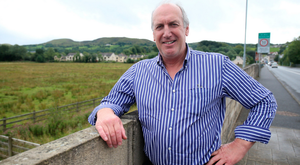 Farmer John Sheridan on the border between Belcoo in Northern Ireland and Blacklion in the Republic