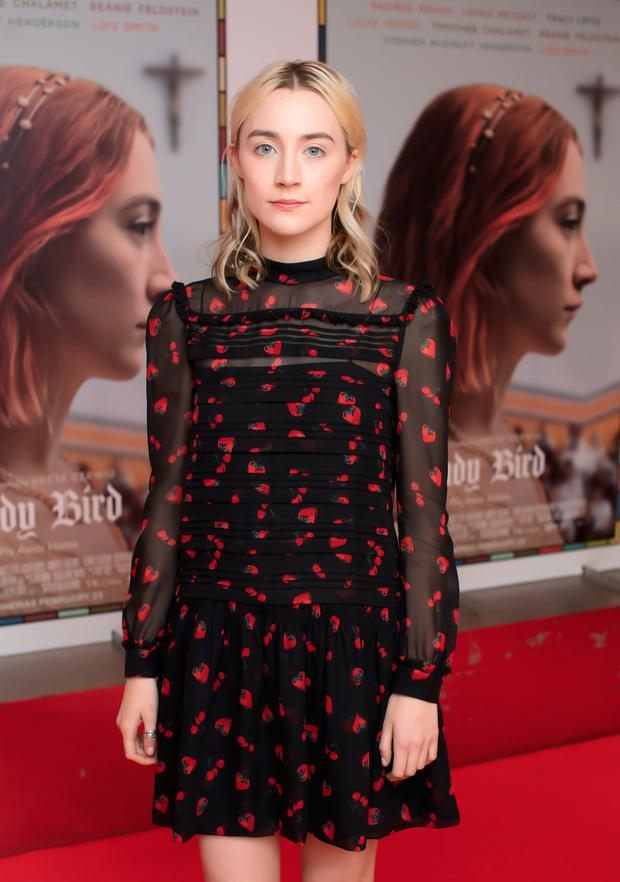 Saoirse Ronan at a VIP screening of Lady Bird hosted by Universal Pictures and Image Magazine at the Light House Cinema, Dublin