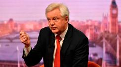 David Davis, Secretary of State for Exiting the EU appearing on the BBC One current affairs programme, The Andrew Marr Show