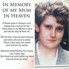 Memorial leaflet for Fiona Conlon