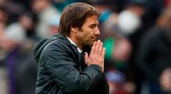 Chelsea manager Antonio Conte admits his side's Premier League title defence is already over
