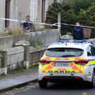 11/12/17 Gardai at the scene of an alleged shooting in Parlickstown Gardens this afternoon...Picture Colin Keegan, Collins Dublin.