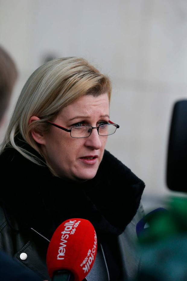 Susan Walmsley pictured speaking outside Dublin Circuit Courts Photo: Collins Courts