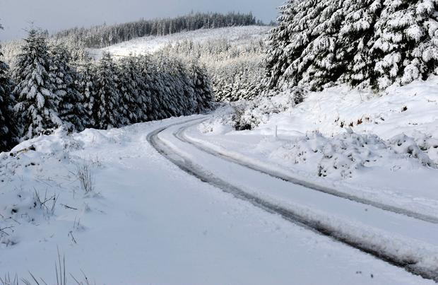 Picture taken by James Flynn of snow in the Slieve Bloom Mountains, near Kinnitty, Co Offaly.