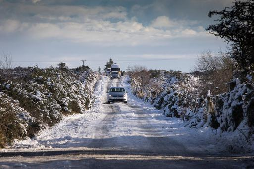 Met Eireann add snow and ice warning to Status Yellow wind warning