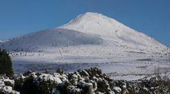 The Great Sugar Loaf covered in snow today Wicklow. 11/12/2017 Picture by Fergal Phillips