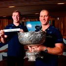 Leinster senior coach Stuart Lancaster, along with players Dan Leavy and Dave Kearney were on hand for the draw