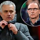 Jose Mourinho and (inset) Martin O'Neill