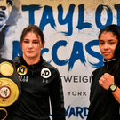 Katie Taylor, left, and Jessica McCaskill square off