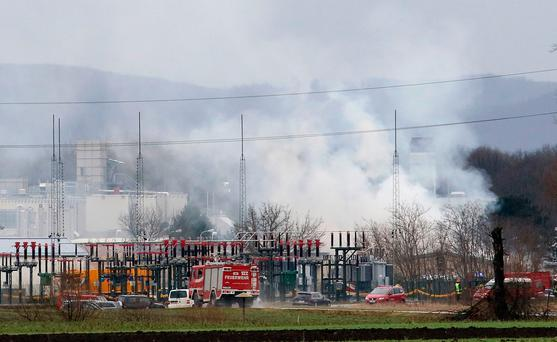 Austria gas plant burns after deadly explosion