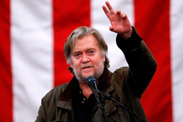 Former White House Chief Strategist Steve Bannon speaks during a campaign rally for Republican candidate for U.S. Senate Judge Roy Moore in Midland City, Alabama, U.S., December 11, 2017. REUTERS/Jonathan Bachman