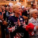 Supporters cheer at a Republican Senate candidate Roy Moore campaign rally in Midland City, Alabama, U.S., December 11, 2017. REUTERS/Carlo Allegri