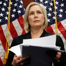 Sen. Kirsten Gillibrand, D-N.Y., attends a news conference, Tuesday, Dec. 12, 2017, on Capitol Hill in Washington. Gillibrand says President Donald Trump's latest tweet about her was a 'sexist smear' aimed at silencing her voice. (AP Photo/Jacquelyn Martin)