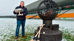 Wexford manager Davy Fitzgerald at the launch of the Bord na Móna series yesterday. Photo: MATT BROWNE/SPORTSFILE