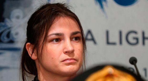 Katie Taylor was rumoured to be lining up a fight in Dublin. Photo: PA