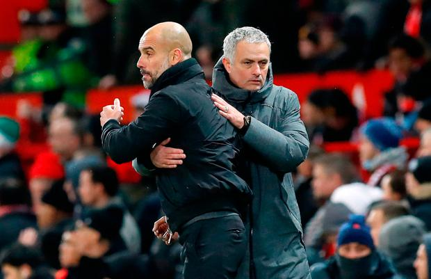 Manchester City manager Pep Guardiola and United boss Jose Mourinho set to clash again on Saturday