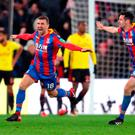 Crystal Palace's James McArthur celebrates after scoring a late winner at Selhurst Park. Photo: PA